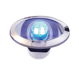 LED Loopverlichting met RVS ring  blauw; ovaal  2x0.2W SMD 2835 LED