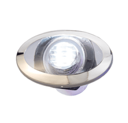 LED Loopverlichting met RVS ring  wit; ovaal  2x0.2W SMD 2835 LED