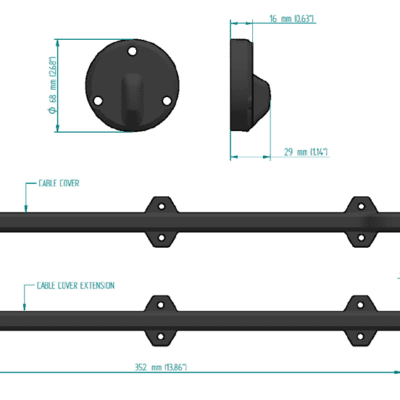 Zipwake cable cover S