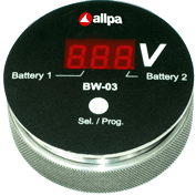 allpa Battery watch monitor BW-03  slimme spanningsmeter voor meerdere Accu's  display: rood