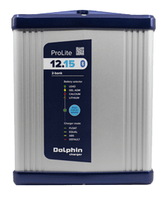 allpa Dolphin Prolite acculader IP65   12V 15A   2x out
