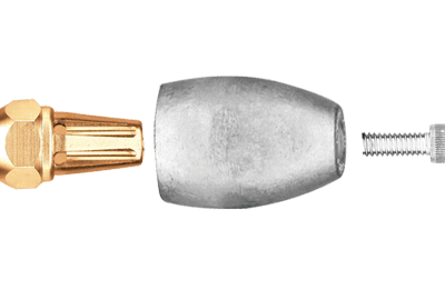 allpa Magnesium Anode Mercruiser/Sterndrive/Mercury outboard  Bravo 3 (>2003)  prop nut assembly